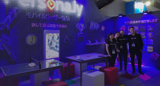The Persona.ly team at Tokyo Game Show (TGS)