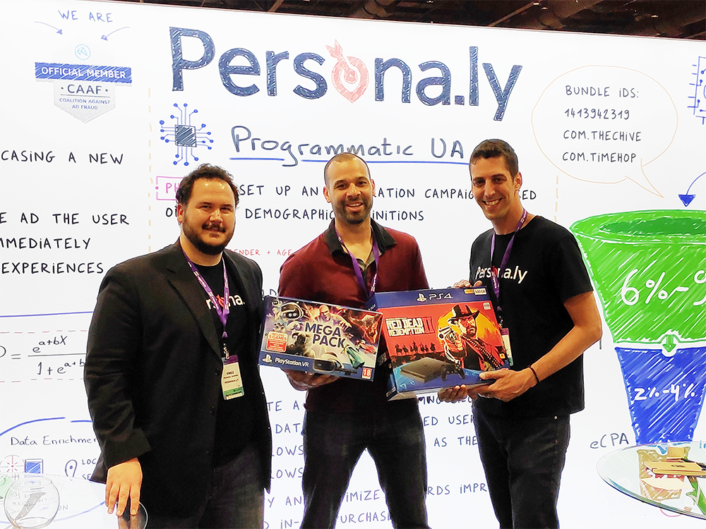 The Persona.ly team at Mobile Apps Unlocked (MAU Vegas), 2019