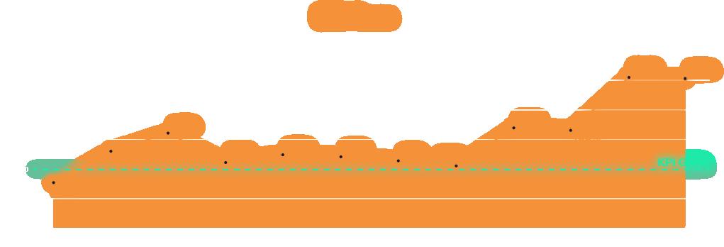 실제로 60일째에 달성하는 것으로 설정된 ROAS 목표는 2주차 30일째에 이미 도달하였으며 마침내 KPI를 두 배 이상 초과 달성하였습니다.
